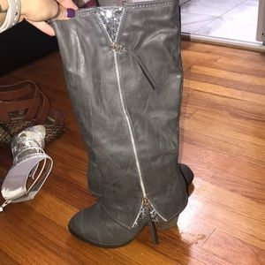 Tall glam boots